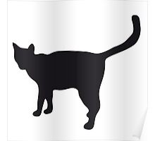 Black silhouette of cat Poster