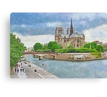The Cathedral of Notre Dame Canvas Print