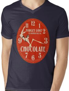 GIVE THE GIFT OF TIME TO THE CHOCOHOLIC IN YOUR LIFE  Mens V-Neck T-Shirt