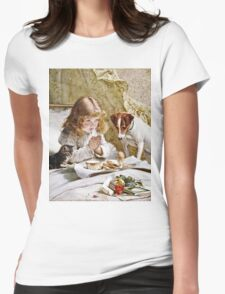 Charles Burton Barber - Suspense  Womens Fitted T-Shirt