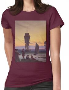 Caspar David Friedrich - The Stages Of Life  Womens Fitted T-Shirt