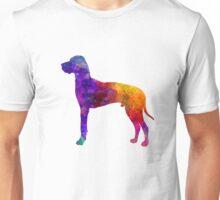 Great Dane 01 in watercolor Unisex T-Shirt