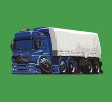 Cartoon cargo semi-truck Baby Tee