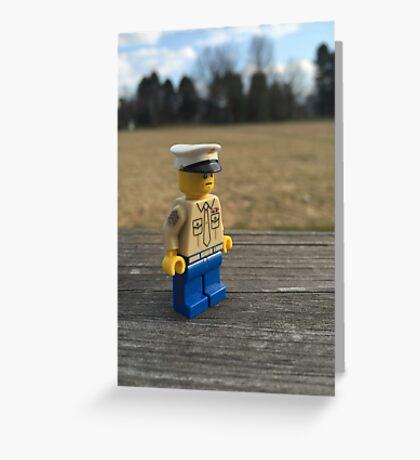 Brickography - USMC  Greeting Card