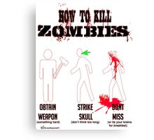 How to kill zombies Canvas Print