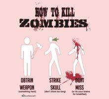 How to kill zombies Kids Tee
