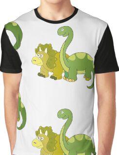 Brachiosaurus and Triceratops Graphic T-Shirt