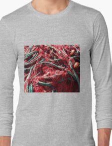 red fishing nets Long Sleeve T-Shirt