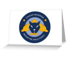 Cougar Squadron Greeting Card