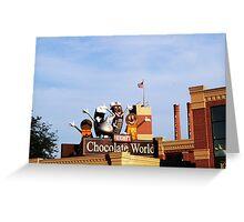 Chocolate World Greeting Card