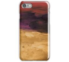 Untitled Abstract Painting Purple Red and Gold iPhone Case/Skin