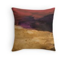 Untitled Abstract Painting Purple Red and Gold Throw Pillow