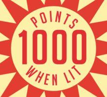 Retro Pinball Points Sticker