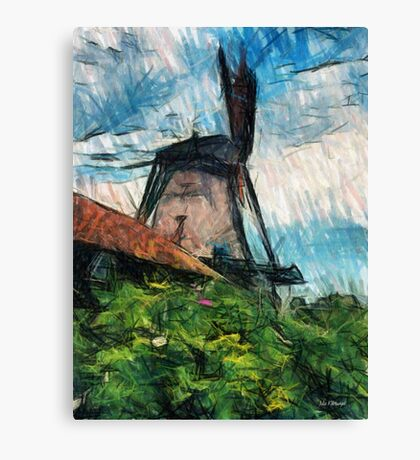 sketching windmill Canvas Print