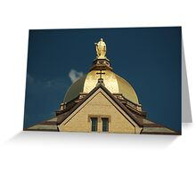 Golden Dome-University of Notre Dame Greeting Card