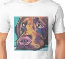 Chocolate Labrador Retriever Dog Bright colorful pop dog art Unisex T-Shirt
