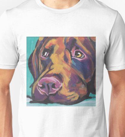 Chocolate Labrador Retriever Dog Bright colorful pop dog art Unisex T-Shirt