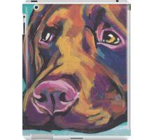 Chocolate Labrador Retriever Dog Bright colorful pop dog art iPad Case/Skin