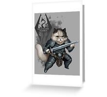 Khajiit Got Your Back Greeting Card