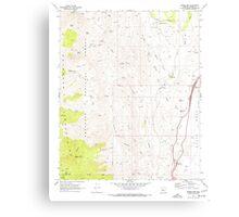 USGS TOPO Map Arizona AZ Bumble Bee 310650 1969 24000 Canvas Print