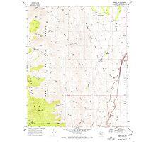 USGS TOPO Map Arizona AZ Bumble Bee 310650 1969 24000 Photographic Print