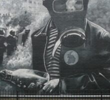 Free Derry murals Sticker