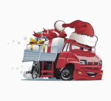 Cartoon Christmas Truck One Piece - Short Sleeve