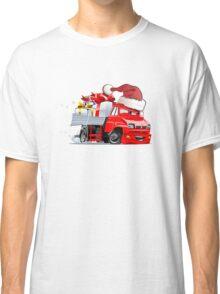 Cartoon Christmas Truck Classic T-Shirt