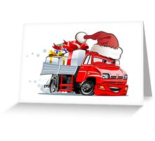 Cartoon Christmas Truck Greeting Card