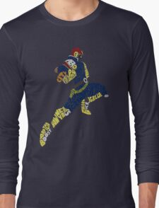 Captain Falcon Typography - Justice is Served! Long Sleeve T-Shirt