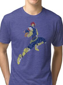 Captain Falcon Typography - Justice is Served! Tri-blend T-Shirt