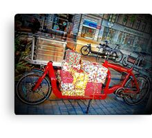 Gifts on Two Wheels Canvas Print
