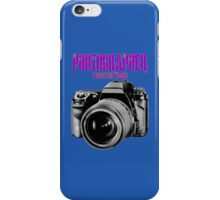 Photographer -  I Shoot Live People iPhone Case/Skin