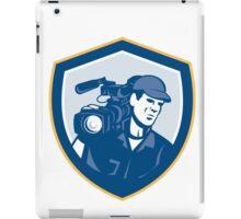 Cameraman Film Crew HD Camera Video Shield Retro iPad Case/Skin