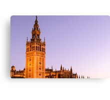 Sunset in the Spanish skies Canvas Print