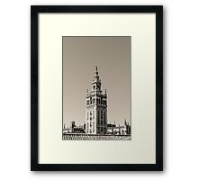 Seville - The Giralda in black and white Framed Print