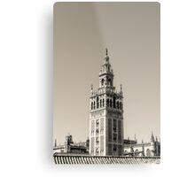 Seville - The Giralda in black and white Metal Print