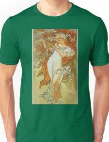 Alphonse Mucha - Spring 1896 Unisex T-Shirt
