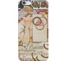 Alphonse Mucha - Salon Des Cent iPhone Case/Skin