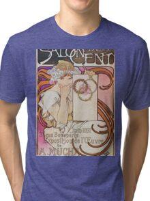 Alphonse Mucha - Salon Des Cent Tri-blend T-Shirt