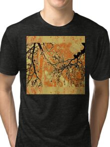 Fragility of Life- Yellow and Orange  Tri-blend T-Shirt