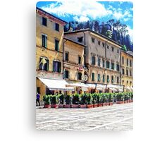 Main Square View Cetona Tuscany Metal Print