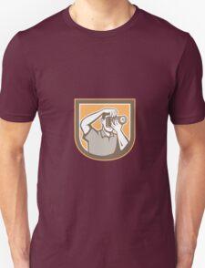 Photographer Camera Shield Retro T-Shirt