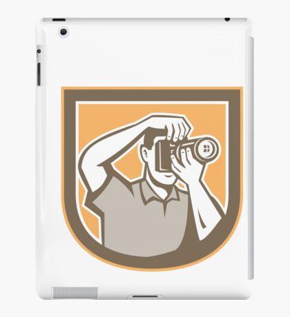 Photographer Camera Shield Retro iPad Case/Skin