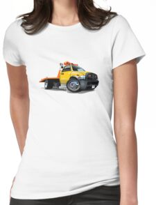 Cartoon tow truck Womens Fitted T-Shirt