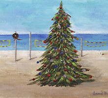 Christmas Tree at the Beach by jfrier