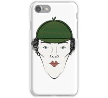 Sherlock in his Hat iPhone Case/Skin