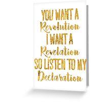 """Listen to My Declaration"" - Hamilton Greeting Card"