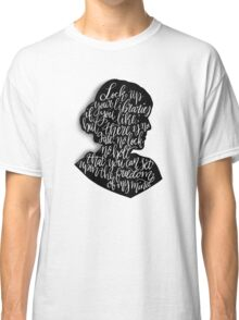 Virginia Woolf Quote and Silloette  Classic T-Shirt