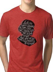 Virginia Woolf Quote and Silloette  Tri-blend T-Shirt
